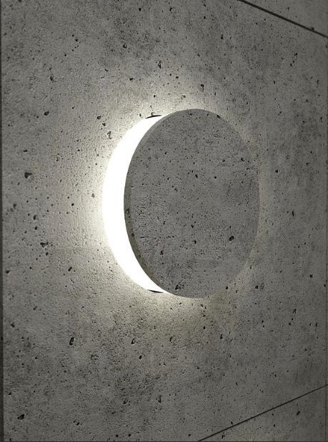 Dadanius Design - Concrete wall light - Sienos sviesos: Lighting Architecture…