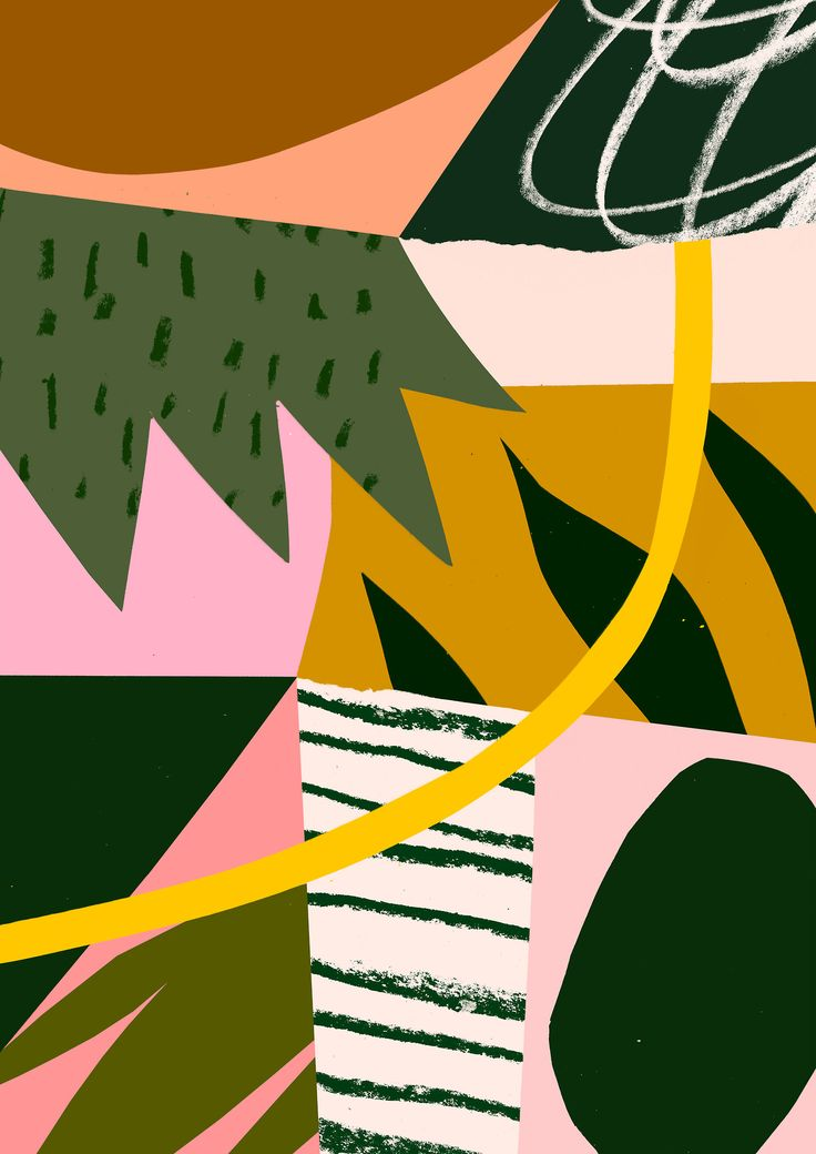 'Pink Gasteria' www.tomabbisssmithart.com  #abstract #contemporary #collage #design #illustration