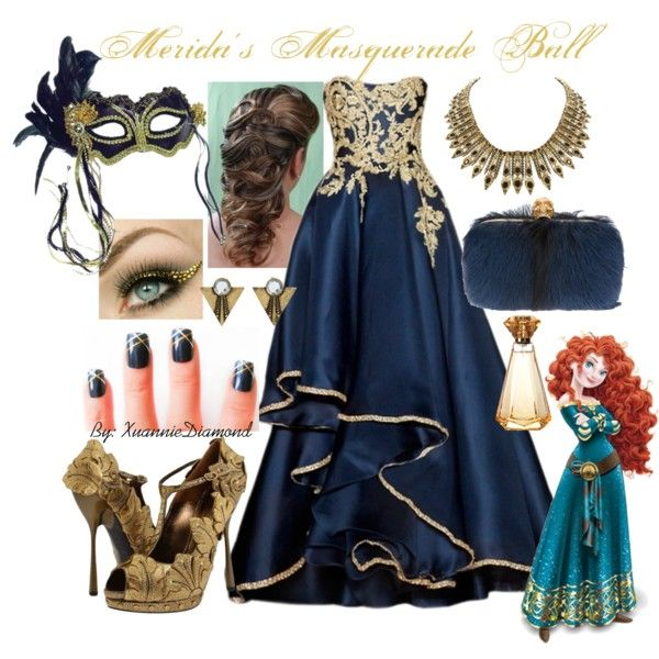 Meridas Masquerade Ball, created by xuanniediamond on Polyvore
