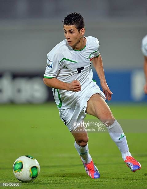 Sherko Kareem of Iraq in action during the FIFA U17 World Cup group F match between Iraq and Sweden at Khalifa Bin Zayed Stadium on October 19 2013...