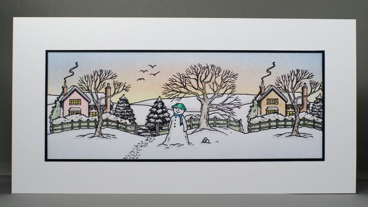 Jayne Nestorenko's Winter Scenes by Claritystamp.