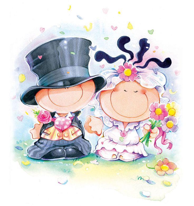 прикольные рисунки на юбилей свадьбы могу