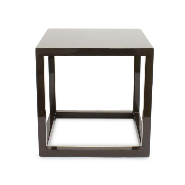 Chocolate Lacquer Cube Side Table  Medium   Jonathan Adler   $250.00    Domino.com