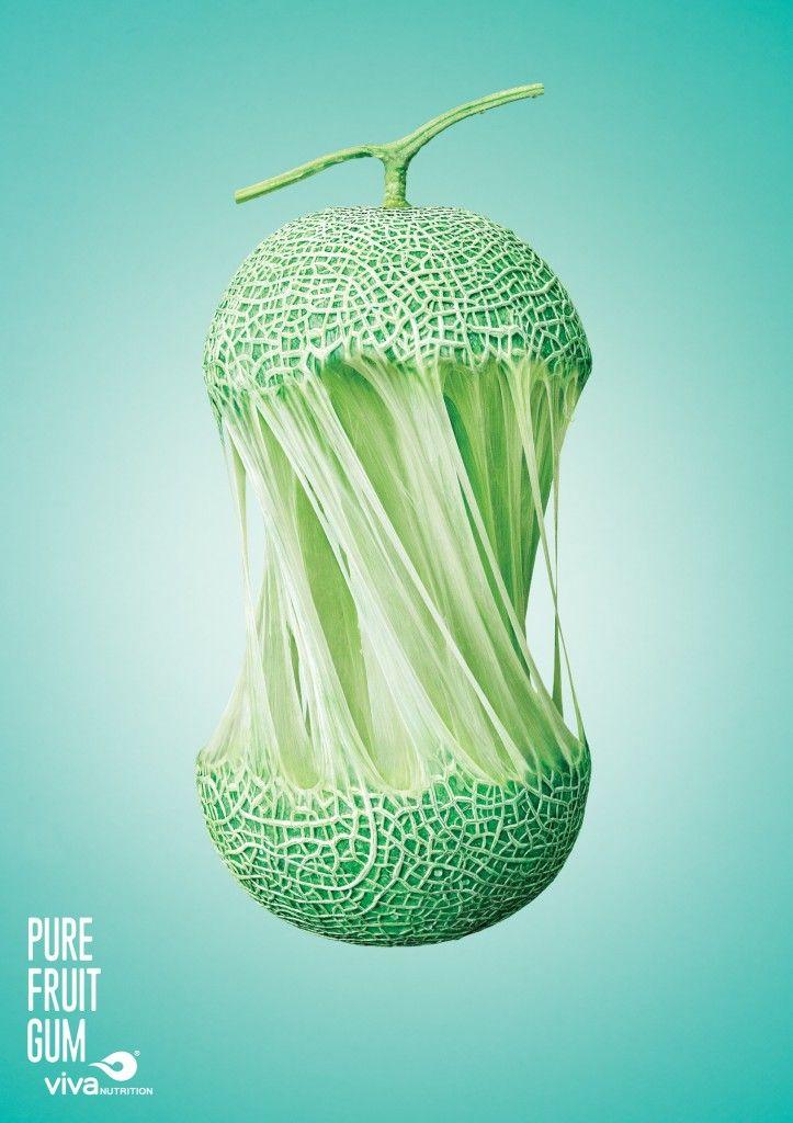 フルーツを切ったら、まさかの切り口。アイデアとは掛け算だということを証明してくれるプリント広告 | AdGang