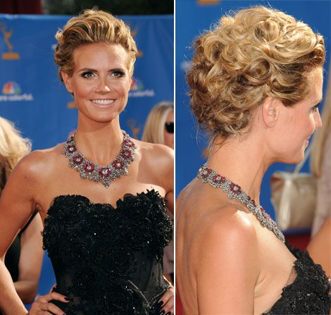 Emmy Awards, Heidi Klum wearing Lorraine Schwartz