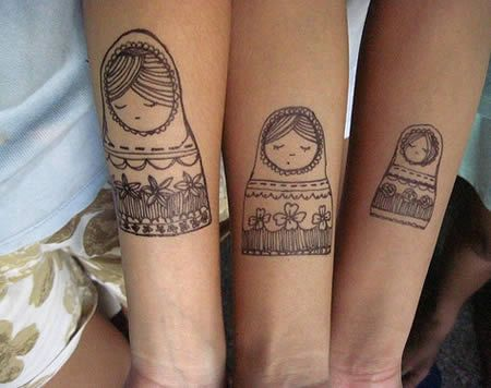 If I could just get 1 more sister willing to tattoo herself this would be awesome to do with sisters.