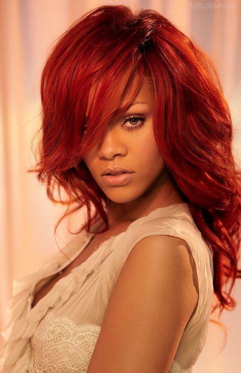 rihanna red hairstyles : ... Rihanna Red Hair on Pinterest Rihanna, Hair scarf styles and Rihanna
