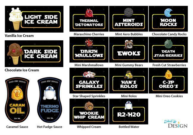 Star Wars Ice Cream Party