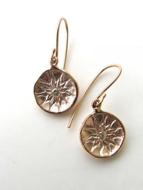 GOLD DIAMOND PROTEA EARRINGS