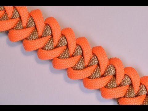 Shark Jaw Bone Paracord Survival Bracelet with Buckle - How to - BoredParacord - YouTube