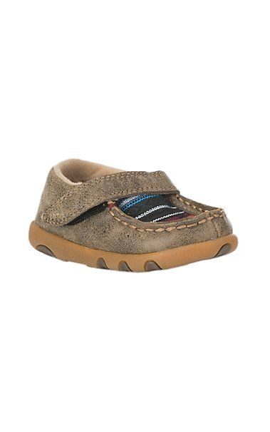 Twisted X Infant Brown Bomber w/ Serape Inlay & Velcro Closure Casual Shoe | Cavender's