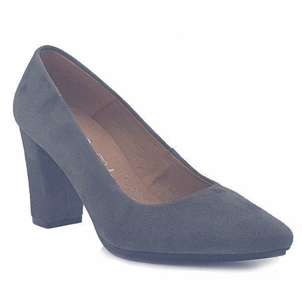 Zapato salón mujer tacón color gris cómodo - Comfort women's shoes pump heel grey- miMaO Urban
