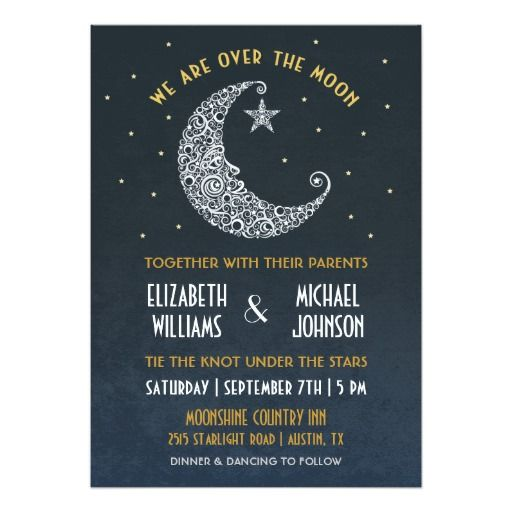 Over the Moon Wedding Invitation II