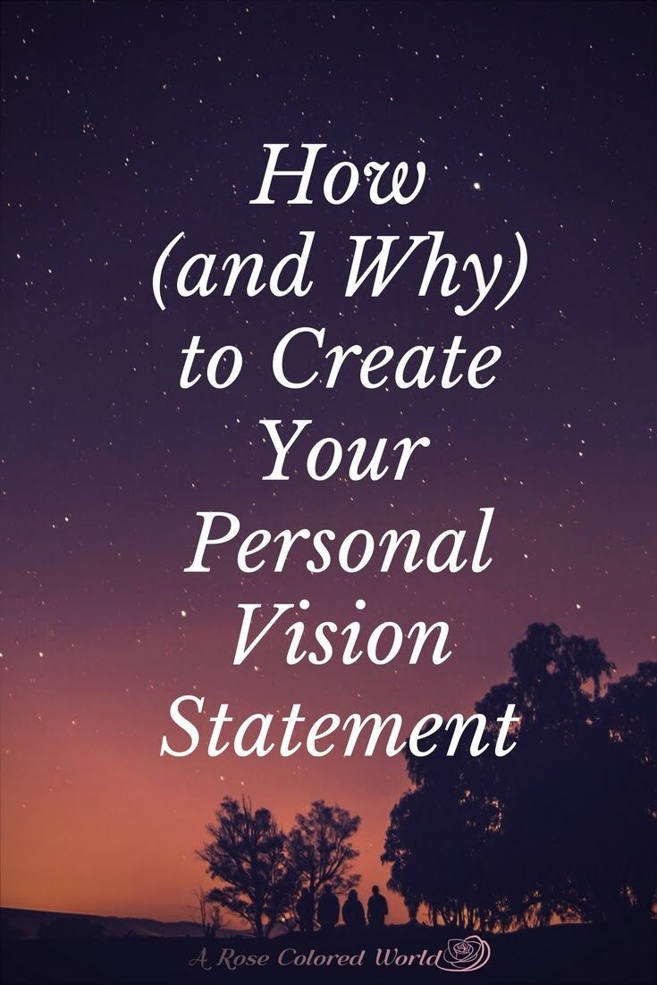 how to write vision mission values