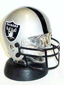 Oakland Raiders helmet bank