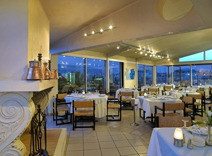 Spacious #Dinner Room of #Hotel #Stanley, in #Athens, #Greece