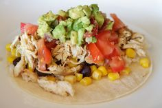 Southwest Chicken Tacos - 21 Day Fix Approved Recipe (2 Yellow, 1/2 Green, 1 Blue, 1 Red) // 21 Day Fix // fitness // fitspo // workout // motivation // exercise // Meal Prep // diet // nutrition // Inspiration // fitfood // fitfam // clean eating // recipe // recipes //Taco Tuesday