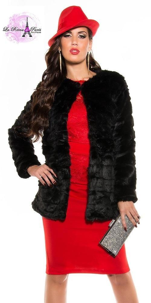 Abrigo s per elegante de gala tary negro chaquetas de for Chaquetas guapas