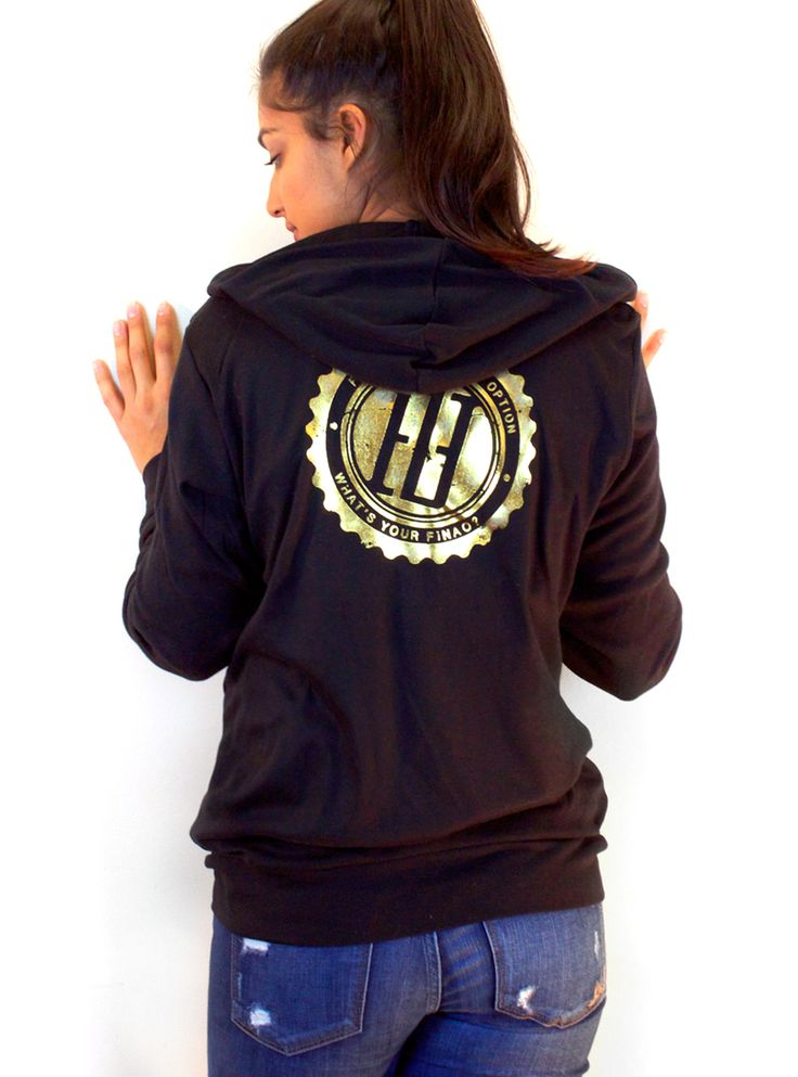 Women's Limited Edition FINAO Gear Zip Hoodie - Shimmer Gold - FINAO®