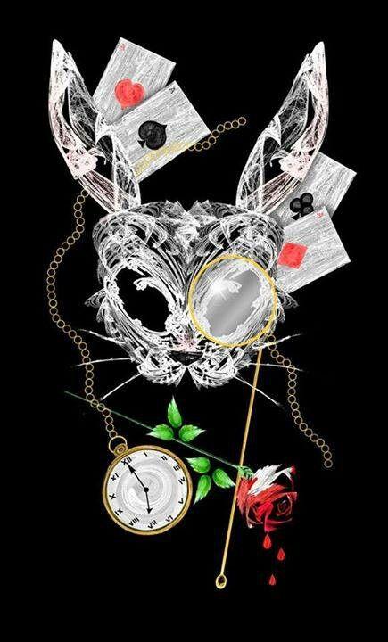 Dark art. Dark alice. White rabbit. Wonderland. Underland.