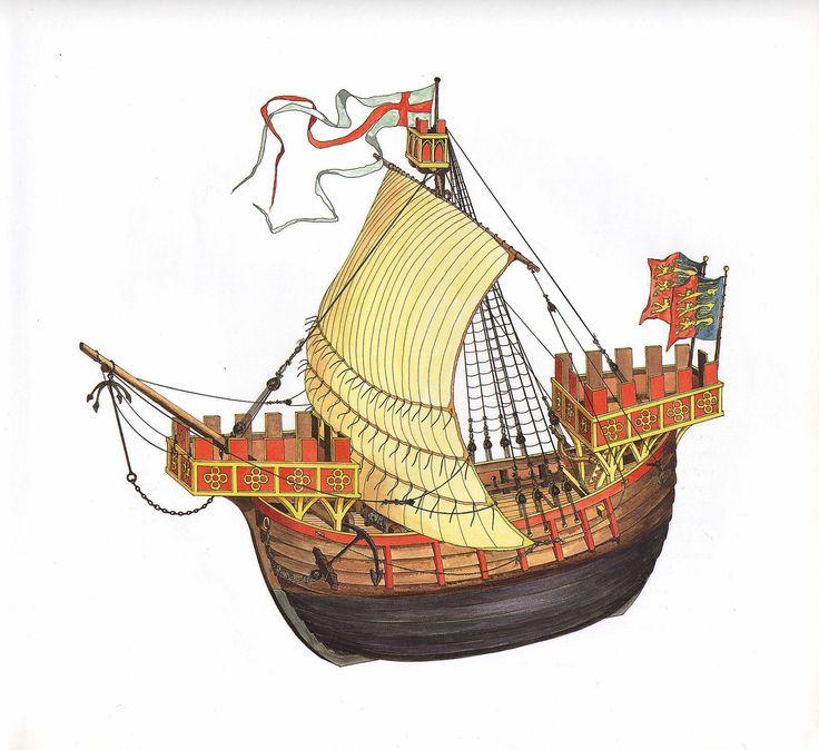 VINTAGE HISTORICAL SAILING SHIP PRINT ~ A CINQUE PORTS COG OF 1300   eBay