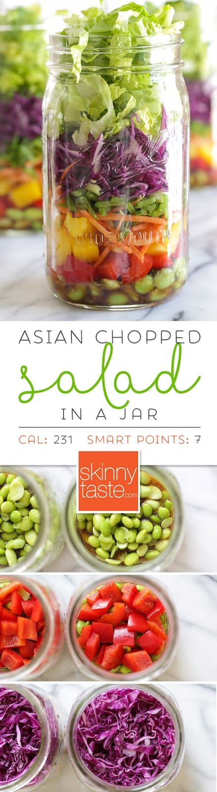 Asian Chopped Salad with Sesame Soy Vinaigrette (In a Jar)