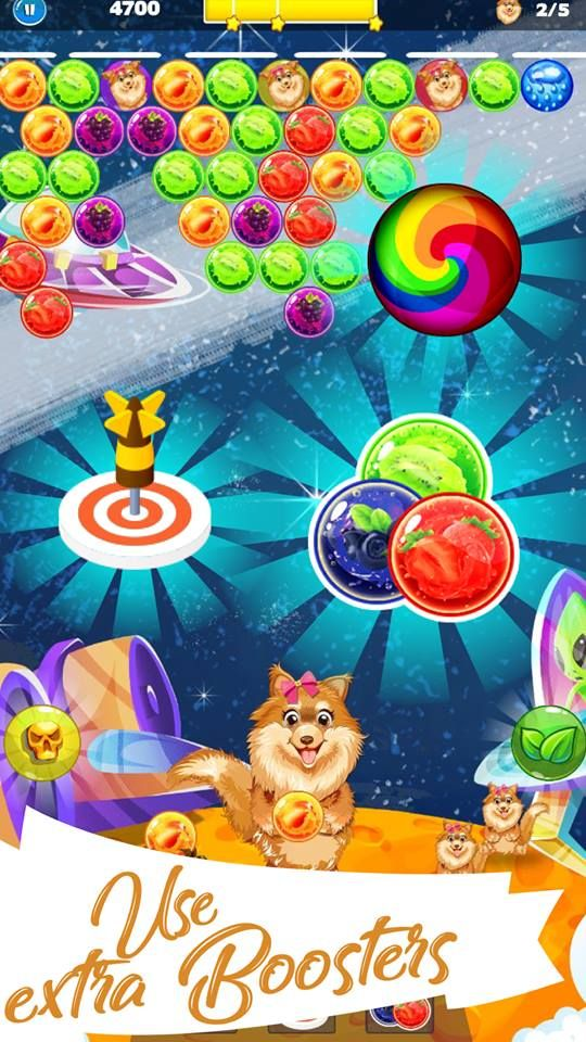 ★ The game environment is very simple and smooth because you can easily navigate the direction of bubble gun according to amazing color combinations. #amazing #puzzle with #dog and very easy #have #fun  #doggy #bubble #shooter