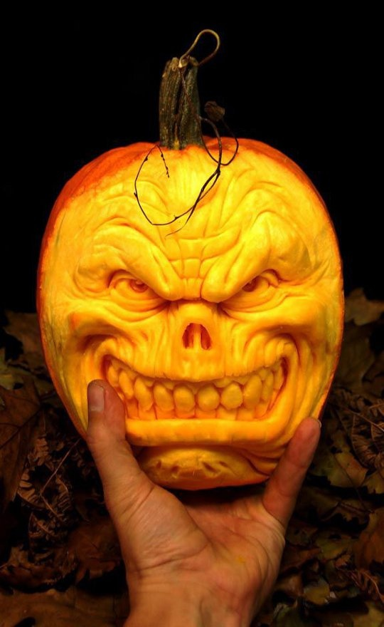 Best Pumpkin Art Images On Pinterest Carving Pumpkins Crazy - Mind blowing pumpkin carvings by ray villafane 2