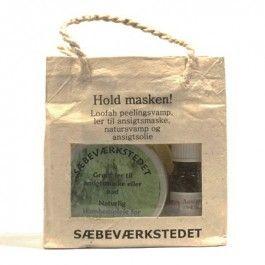 Sæbeværkstedet Gavepose Hold masken grønt ler #gaveidé #sæbeværkstedet