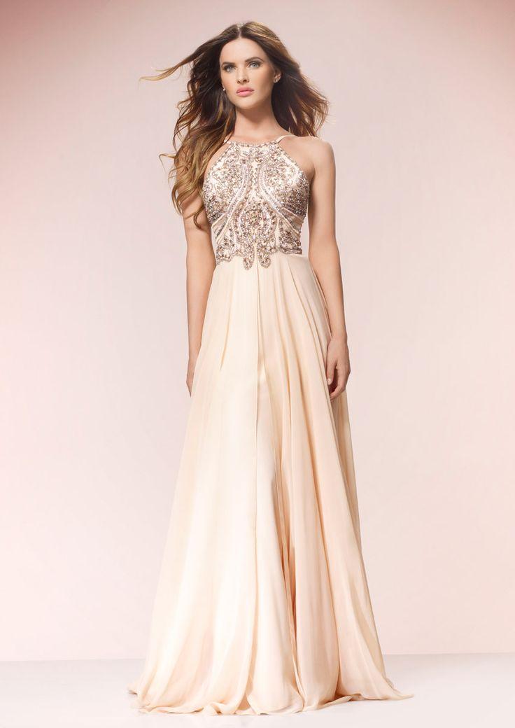 Buy Cheap Best Seller Lace Detail Halter Fishtail Maxi Dress - Peach Forever Unique Store Cheap Price Qsojk