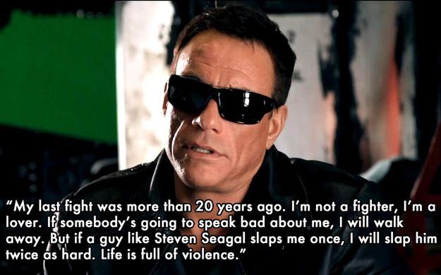 Best Things Jean-Claude Van Damme Has Ever Said :)