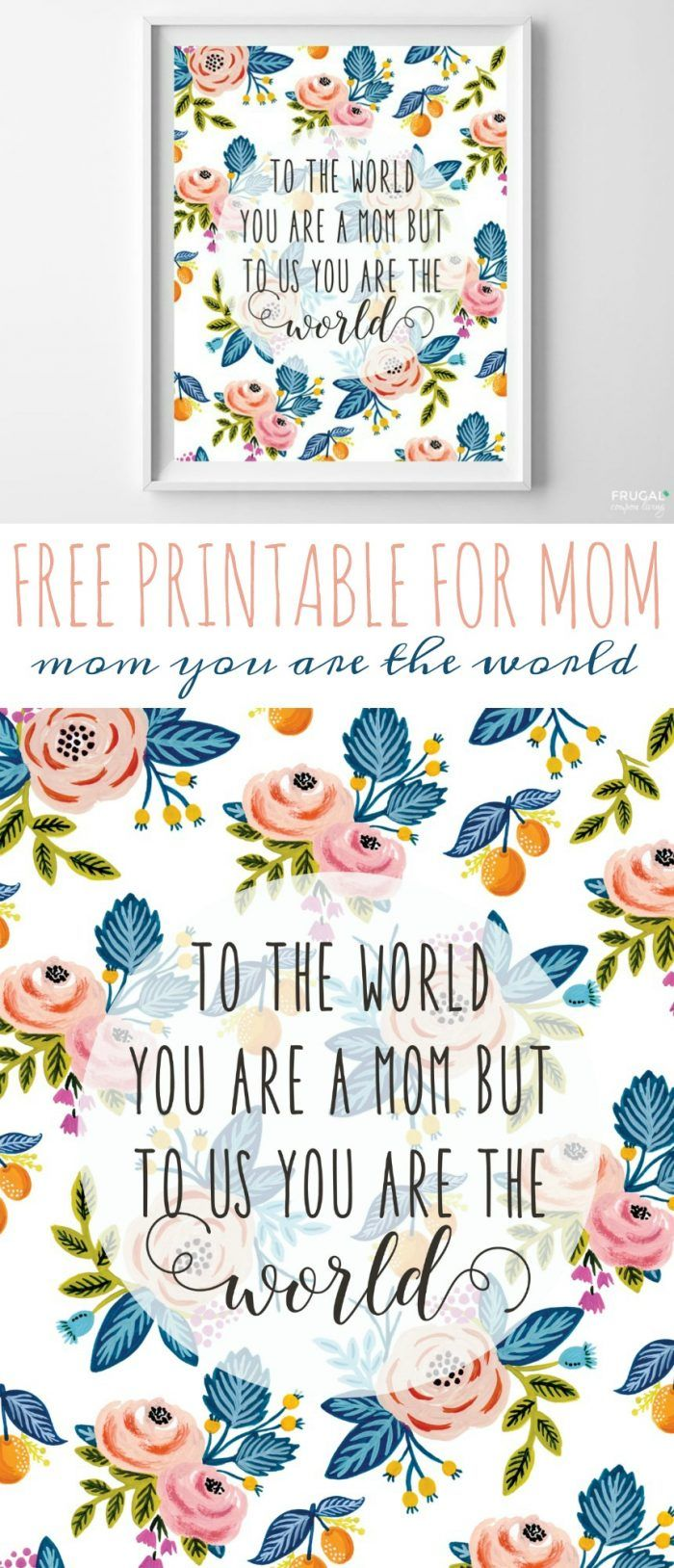 Mother Printable | Quote for Mother's Day
