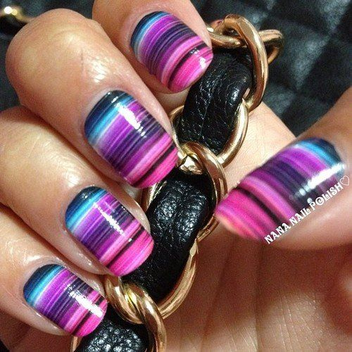The 25 best striped nail art ideas on pinterest hibiscus nail 17 fabulous striped nail art ideas prinsesfo Image collections