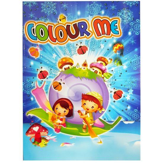 Kinder kleurboek 2 tot 8 jaar. Model: Colour me. Dit kleurboek bevat 96 paginas.