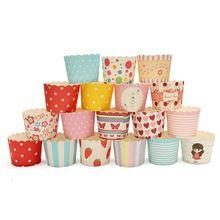 Sevimli 50 Adet Çeşitli Renkli Nokta Muffin Bardak Kek Pişirme Bardak Kağıt Fırın Ev Partisi Kağıt Meslekler Pişirme Dekor (Çin (Anakara))