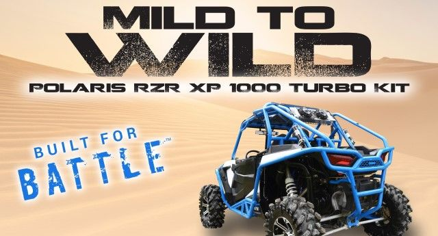 Are you ready to upgrade your machine?  Get a competitive edge with SuperATV's Turbo Kit on your RZR XP 1000!