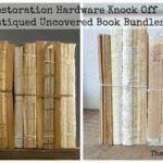 Restoration Hardware Knock Off Antiqued Uncovered Book Bundles