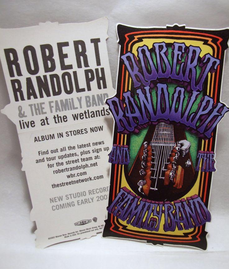 Robert Randolph & Family Band Sticker Live at Wetlands Guitar Album Art Decal by PopWildlife on Etsy