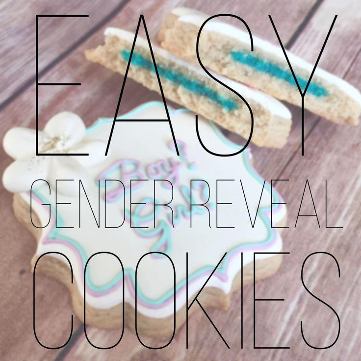 Easy gender reveal cookies