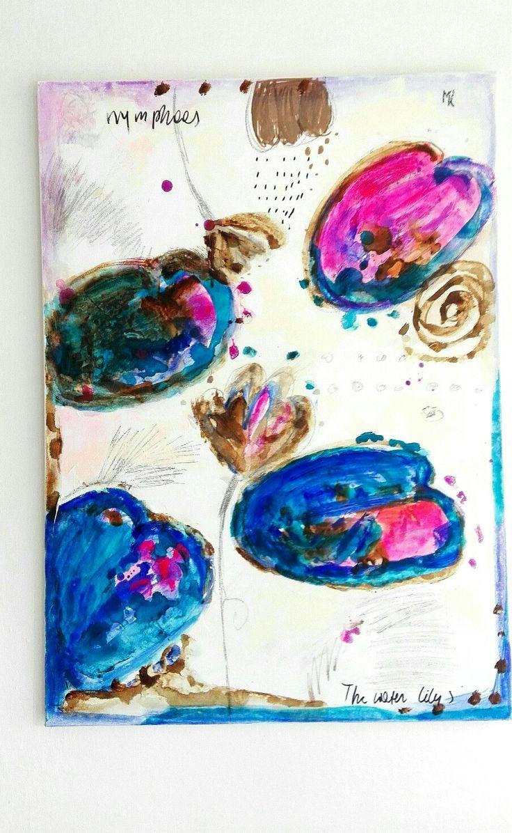 #Małgorzata#kobus#painting#abstract#malarstwo#water lilies