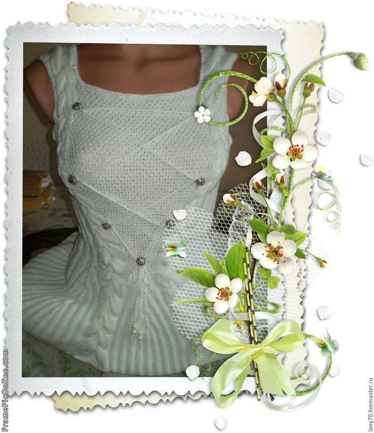Купить Летняя майка-корсет - белый, корсет, вязаный корсет, стильный корсет, летний корсет