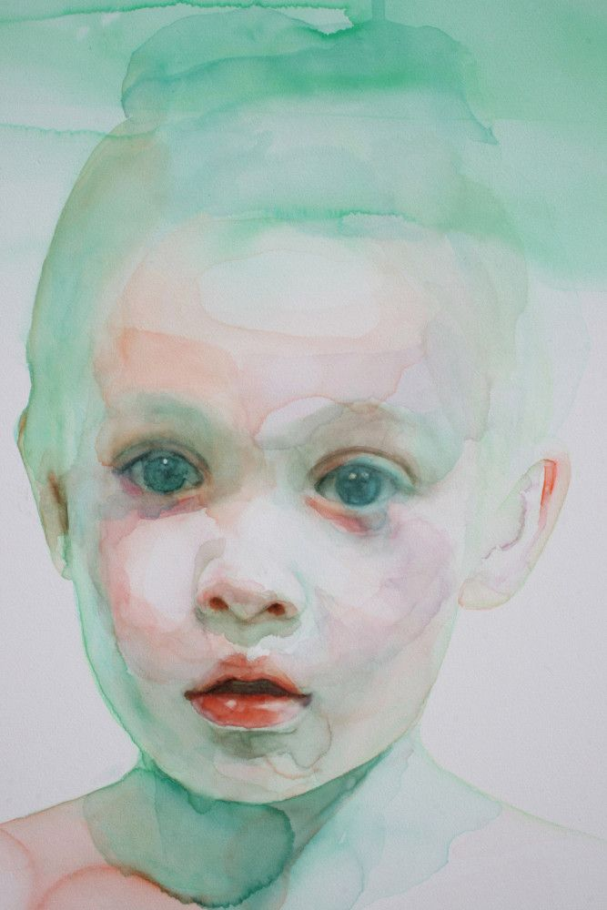 Immerse: Watercolor Portraits by Ali Cavanaugh | Inspiration Grid | Design Inspiration