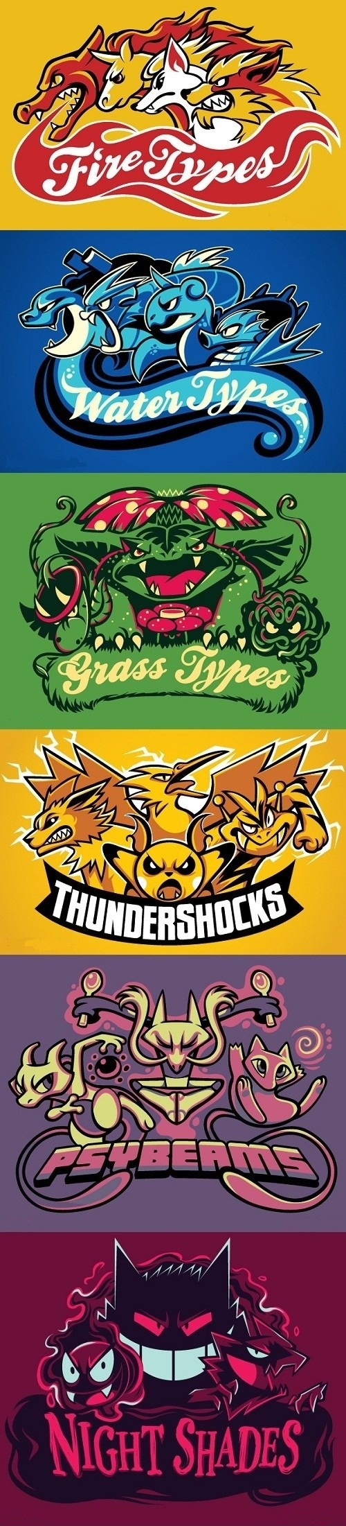 Pokemon Sports Teams