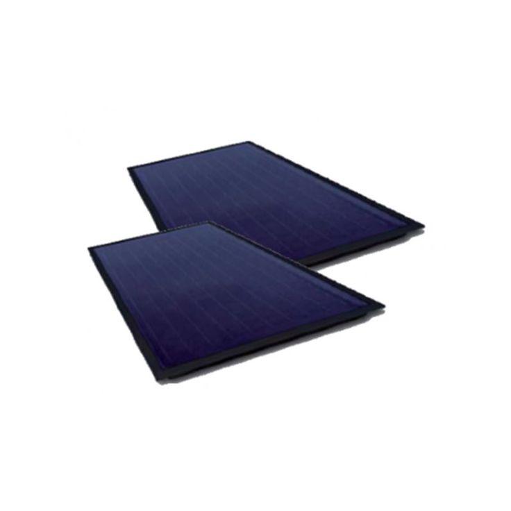 Solerio Pack 2 Capteurs Vertical Sur Tuile Pente 15 Atlantic Chauffe Eau Solaire Chauffe Eau Electrique Panneau Photovoltaique