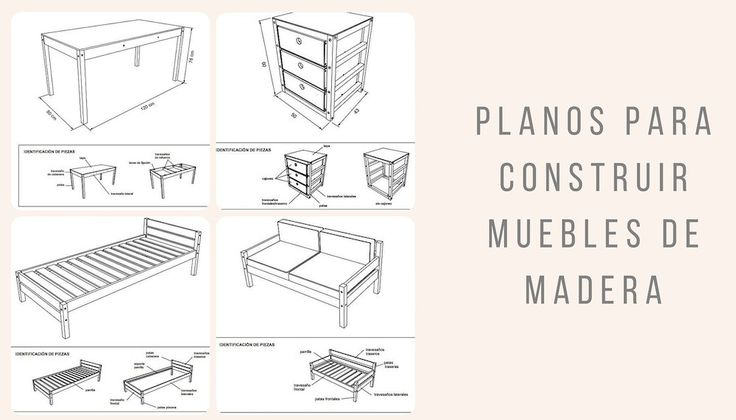 Planos para construir muebles de madera …