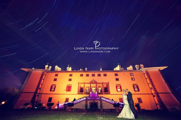 wedding villa sky night stars startrails couple
