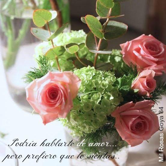 Buenos días, con #rosas. Podría hablarte de #amor, pero prefiero que lo sientas...