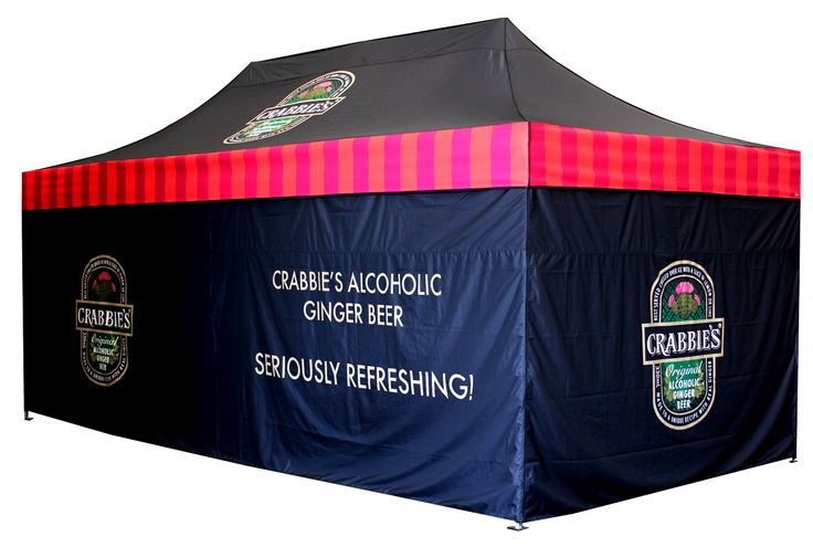 Dark, seductive, enticing printed marquee only from Star Outdoor. www.staroutdoor.com.au