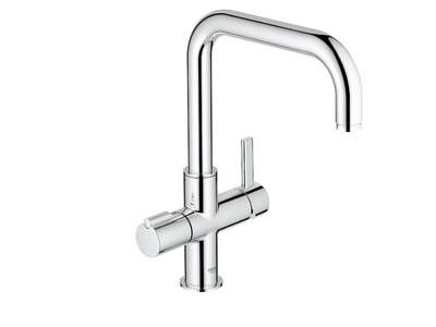 Instant refreshment on demand. In the past you would have needed a pot or kettle, now it comes directly from the tap. The innovative GROHE Red™ system keeps three litres of filtered kettle hot water ready for immediate use at all times.