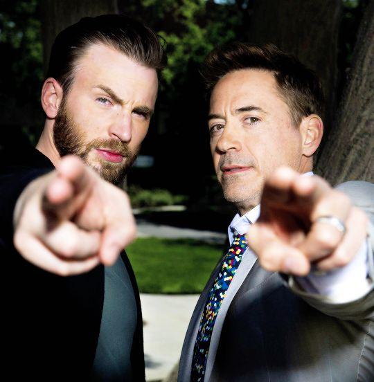 Chris Evans and Robert Downey Jr